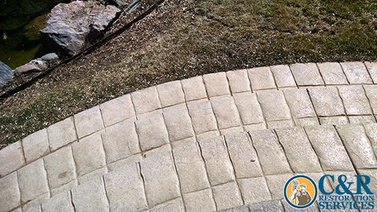Outdoor Patio Tile Floor Cleaning